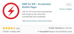 Memasang AMP fo WP - Accelerated Mobile Pages