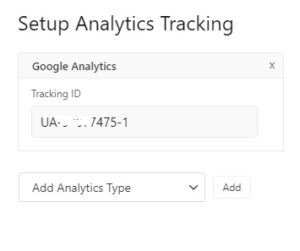 Setup Analytics Tracking